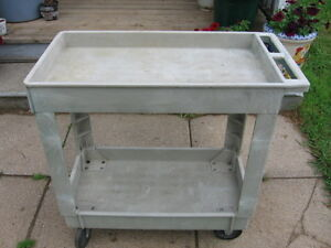 Heavy duty plastic cart strong and well made.