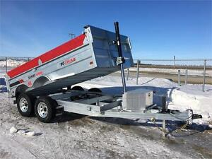 Galvanized 6 x 12 Dump Trailer