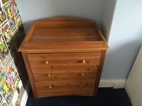Mothercare Changing Table with Chest of Drawers.
