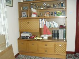 Teak Display Cabinet with glass display top