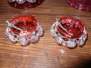 Selection of Antique Cranberry Glass