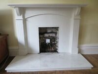 Marble effect fireplace / fire surround