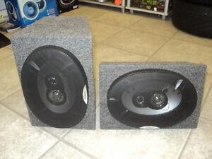 vw t4 t5 transporter 6x9 rear speakers camper van motorhome pair of 260w 3 ways ebay. Black Bedroom Furniture Sets. Home Design Ideas