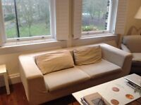 Cream sofa from Dwell