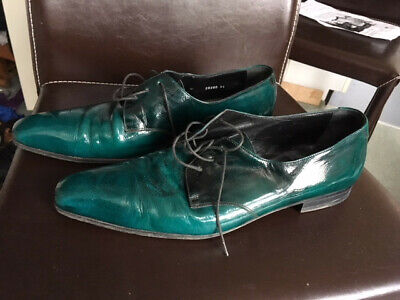 alexander mcqueen mens shoes. Turquoise patent. leather UK10