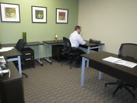 Beautiful Team Office with 3 Desks for Rent in Kelowna!