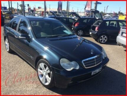 2000 Mercedes-Benz C200 W203 Kompressor Classic Black 5 Speed Automatic Sedan Lansvale Liverpool Area Preview