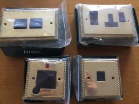 BRASS GOLD COLOURED LIGHT SWITCHES BRAND NEW