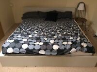 Very large bed frame (double king?) + mattress