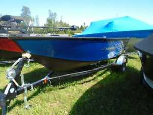 2017 Starcraft 166 Stealth Tiller / 50 hp Suzuki / Trailer