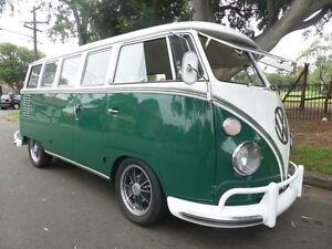 1962 Volkswagen Kombi Microbus 15 WINDOWS Green Manual Bus Concord Canada Bay Area Preview