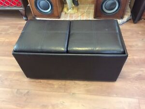 Faux Leather Ottoman/Coffee Table