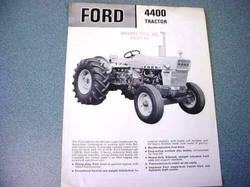 Ford 4400 Industrial Tractor Brochure