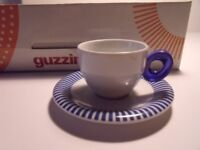 GUZZINI ESPRESSO CUPS AND SAUCER SET 6