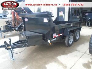 QUALITY BUILT 3.5 TON DUMP TRAILER -5X10' BED - EASY TO TOW
