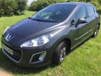 2012 62 plate new shape peugeot 308 sportium e hdi stop/start fully loaded £30 year road tax 70 mpg