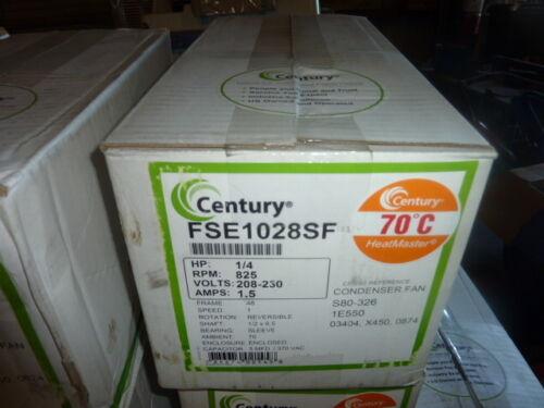 NEW Century Condensor Fan Motor FSE1028SF 1/4 HP 825 RPM 208v 208 volt 1 phase