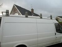 Factory made David Murphy galvanized roof rack with roller for l.w.b ford transit
