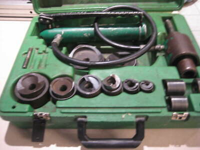Greenlee 7306sb Knockout Set And Hydraulic Driver W 2.5 And 3 Knock Outs