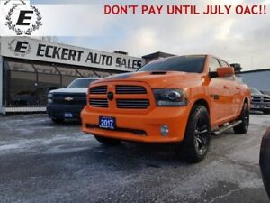 2017 RAM 1500 SPORT CREW CAB 4X4  DON'T PAY UNTIL JULY OAC!