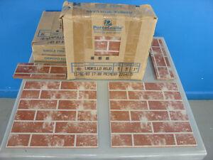1 Box PROCELANITE RED BRICK CERAMIC TILE 13