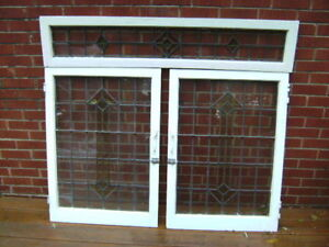 STAINED LEADED GLASS WINDOWS