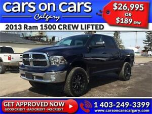2013 Ram 1500 DODGE CREW LIFTED HEMI w/Custom Rims, Custom Exhau