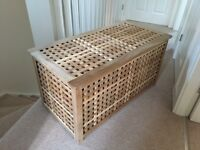 Excellent condition - Ikea HOL solid wood storage table/ chest/ blanket box