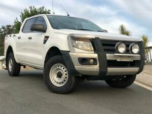 2013 Ford Ranger PX XL Double Cab White 6 Speed Manual Utility Chevallum Maroochydore Area Preview