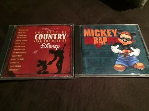 Disney CDs - 'Mickey Unrapped' & 'Best of Country Sings Disney'