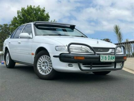 1995 Ford Fairmont EF White 4 Speed Automatic Sedan Chevallum Maroochydore Area Preview