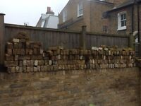 London Stock Bricks left over from building back wall Approx 380