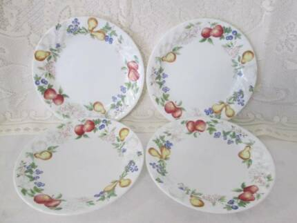 Four Corelle Side Plates. Kitchenalia.