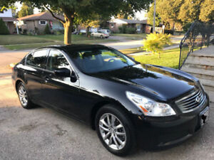 2009 Infiniti G37x Luxury Sedan - 4 door Black on Black