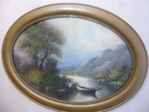 ANTIQUE PASTEL PAINTING
