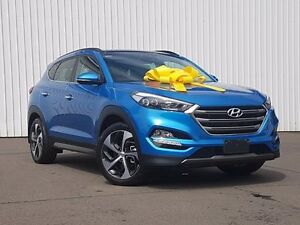 2016 Hyundai Tucson TLE Highlander D-CT AWD Blue 7 Speed Sports Automatic Dual Clutch Wagon Kings Park Blacktown Area Preview