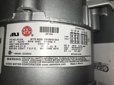 Gast Regenair R4310a-2 1 Hp Blower 60hz 3450 Rm 3 Phase Part J610a