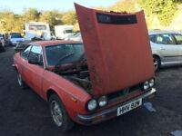 Classic car 1981 Lancia Beta 2000 low mileage brakes are seized, car located in Gravesend,