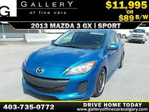 2013 Mazda3 GX i Sport $89 bi-weekly APPLY TODAY DRIVE TODAY