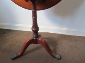 Handcrafted Mahogany Tilting Table