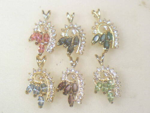 . DESIGNER DOLPHIN ORE  CHARMS PENDANTS WITH SWAROVSKI CRYSTALS LOT 769UP