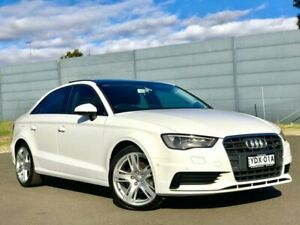 2016 Audi A3 8V MY16 Attraction S Tronic White 7 Speed Sports Automatic Dual Clutch Sedan Blacktown Blacktown Area Preview