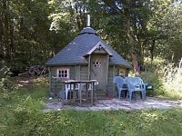 Octagonal wooden cabin / summer house - spacious inside area of 11m2.
