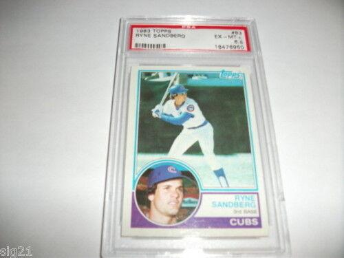 83 Topps #83 Ryan Sandberg Baseball Card PSA EX-MT+ 6.5