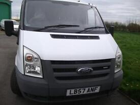 One Owner Ford Transit Van FSH Superb Drive Twin Side Loading Doors Roof Rack