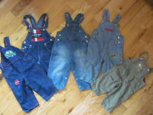 Boys Size 12-18m overalls lot
