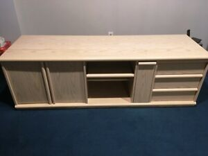 TV stand with storage drawers and shelves