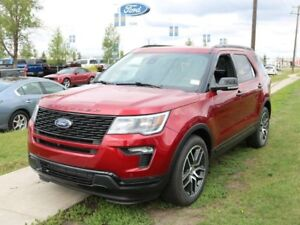 2018 Ford Explorer SPORT, 400A, 3.5L V6, 4WD, LTHR, HEATED/COOLE