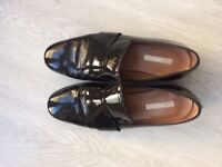 H&M Patent Brogues - Black - Genuine Leather - Size 5/38 - Hardly Worn