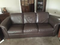 leather sofa's, 3 seater and 2 seater electric recliner